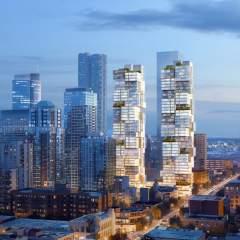 Barclay Village Ole Scheeren Skyscraper Pair Vancouver Canada Dezeen Hero