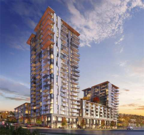 Rendering Of Fraser Commons Towers In South Vancouver