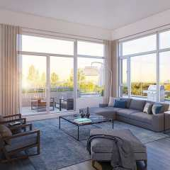 Rendering of Park House living area