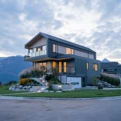 Rendering of single family home in University Heights Squamish