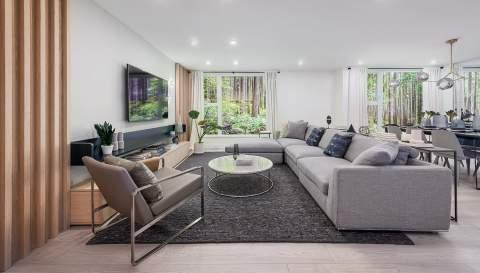Rendering Of Seymour Village Hilltop Living Room