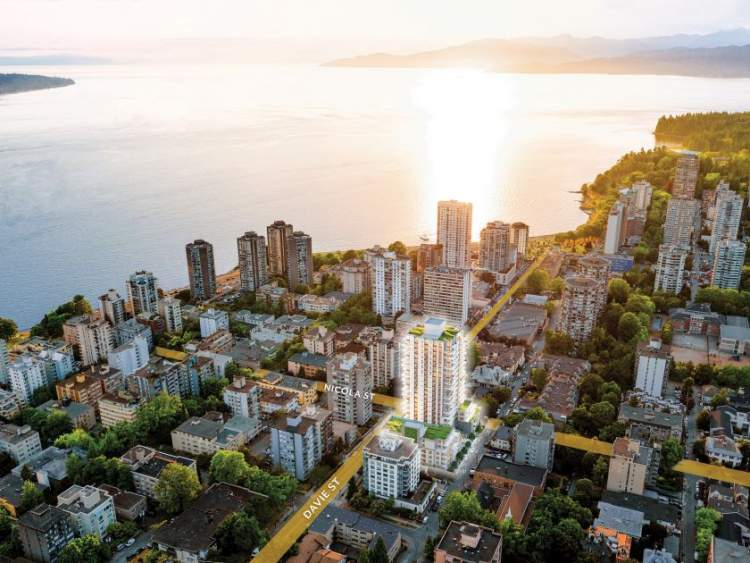 Davie & Nicola presale condo in downtown Vancouver near beach