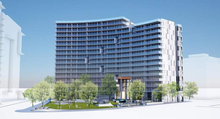 Avenue One north elevation rendering.