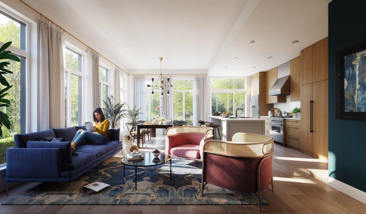 An interior concept rendering for the Cambie Corridor's Edward condominiums.
