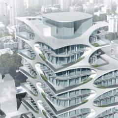 1684 Alberni Top Detail Render in Downtown Vancouver