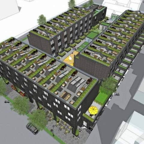 The Admiral Aerial Townhome Development