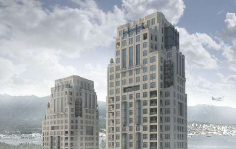 1488-Alberni Building Rendering In Downtown Vancouver