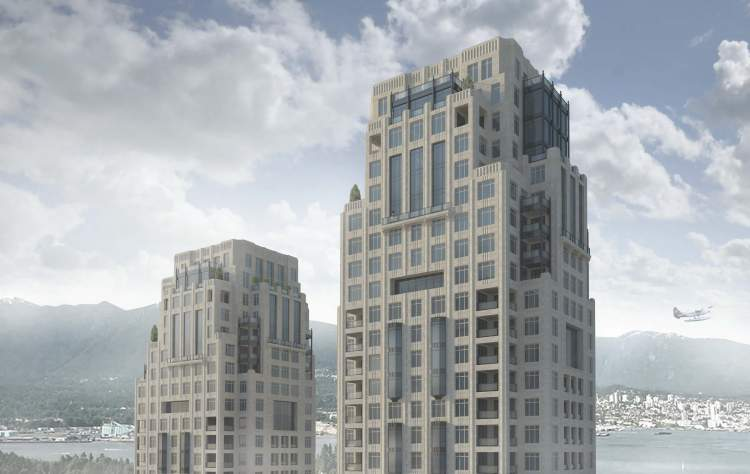 1488-Alberni building rendering in Downtown Vancouver