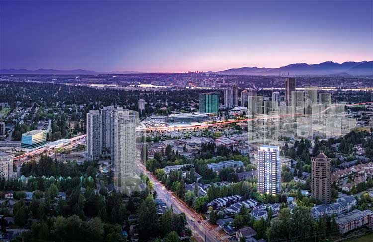 Centra Surrey City Centre City Plan Rendering