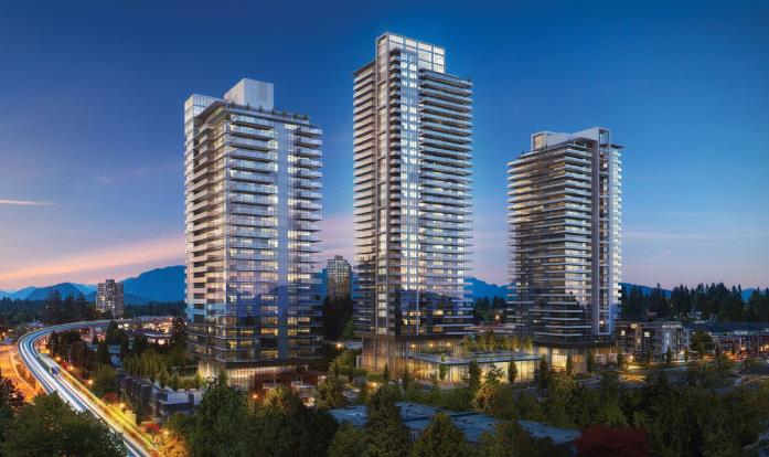 Bosa Properties Bluesky Properties Lougheed Heights Exterior Rendering