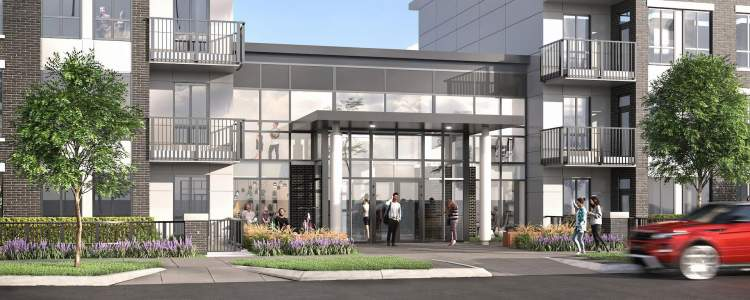 Kira West Coquitlam condo building rendering