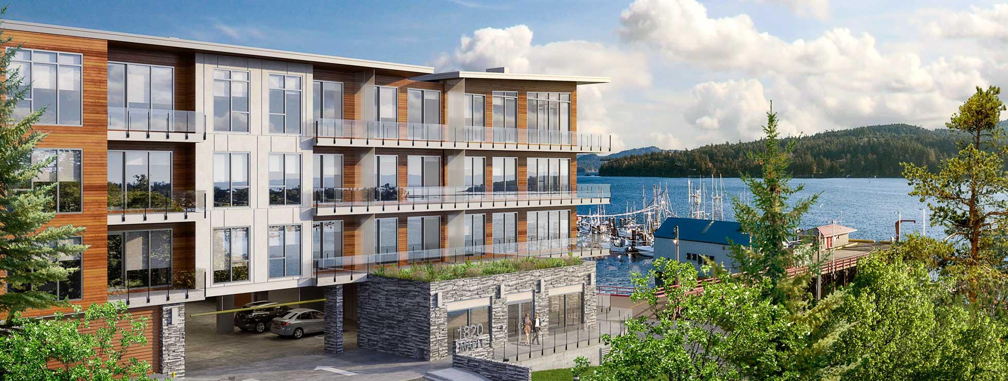Residences Sooke Harbour Presale Condo Rendering