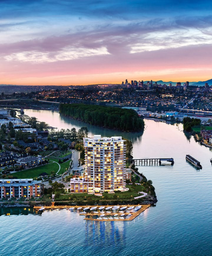 Peninsula East New Westminster waterfront condos for sale