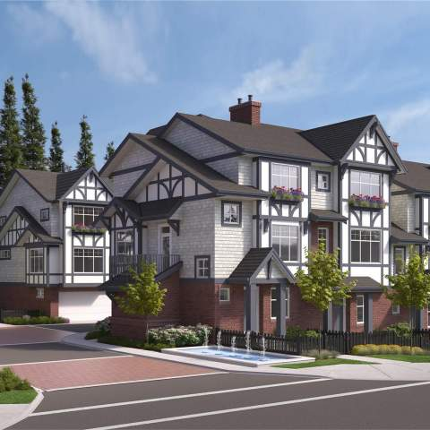 Chelsea Gate Delta New Townhome Side On The Side Of A Road