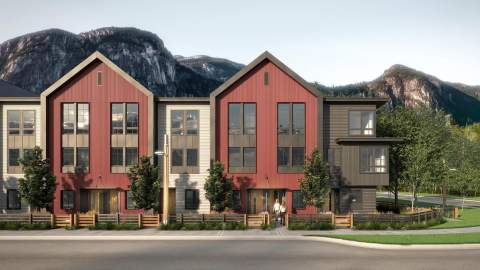 SEAandSKY Townhouse In Squamish Vancouver BC With Mountain View