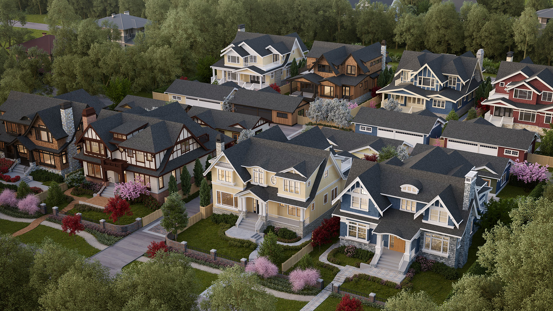 Mccleery And Magee Single Family House Development Birdseye