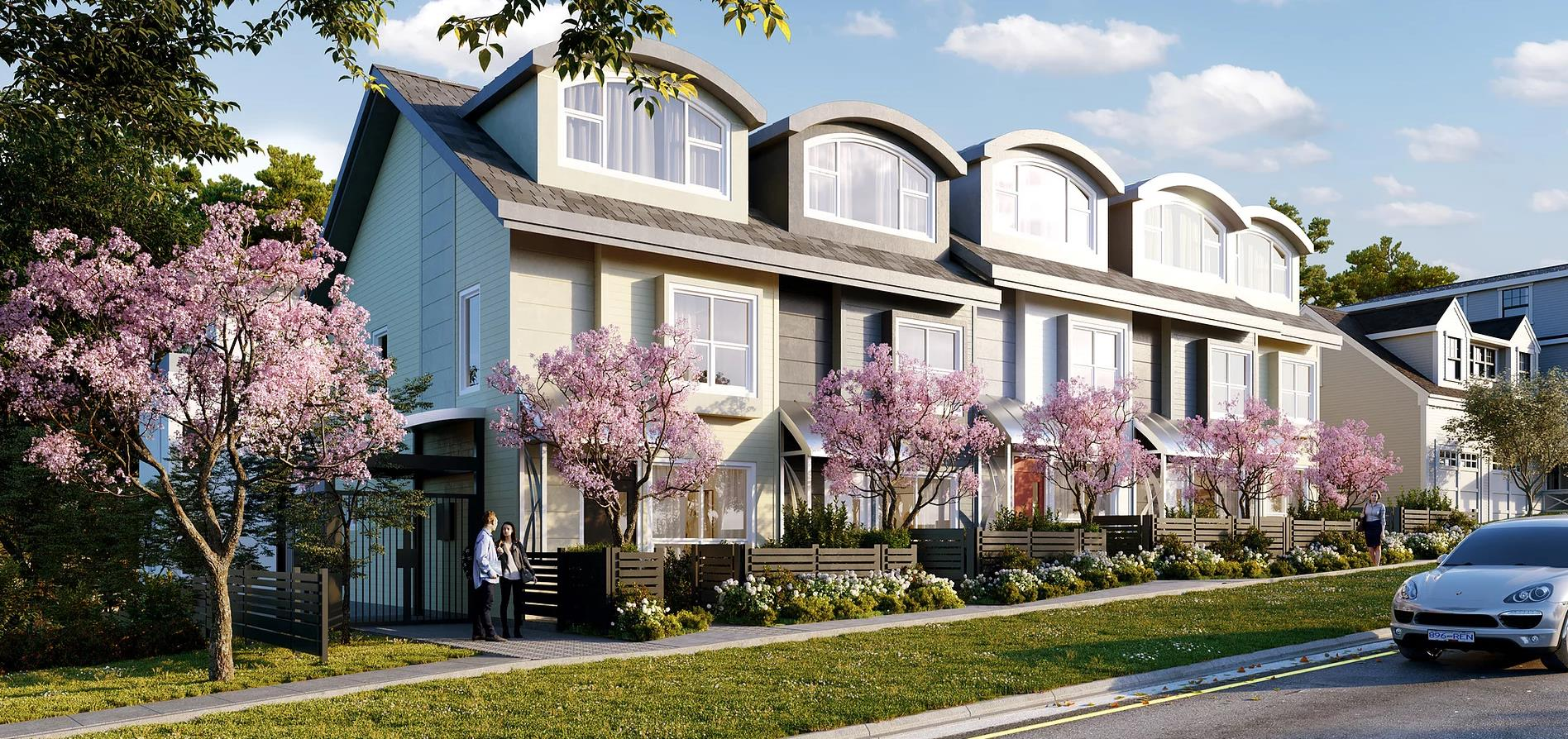 Aero Place On Vancouver Westside Townhouse Render