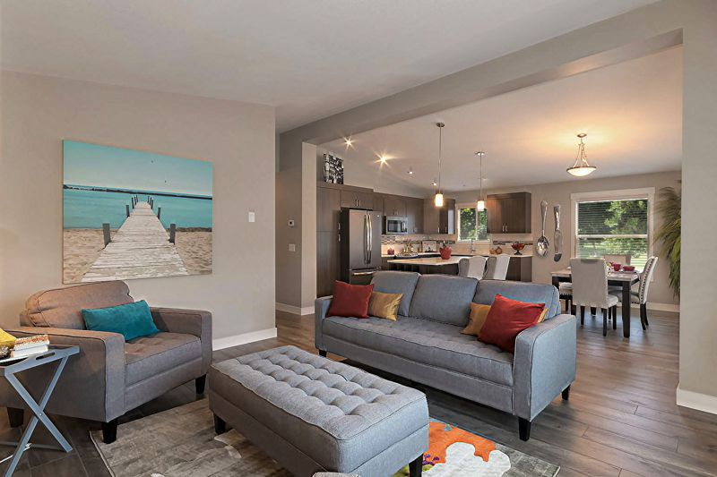 Barnard's Village Living Room Ranch Style Homes In Vernon Presale