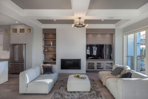 Aura 2 Burke Mountain New Development Rendering Living Room
