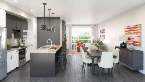 Base 10 Living Room/kitchen Rendering Chilliwack Presale