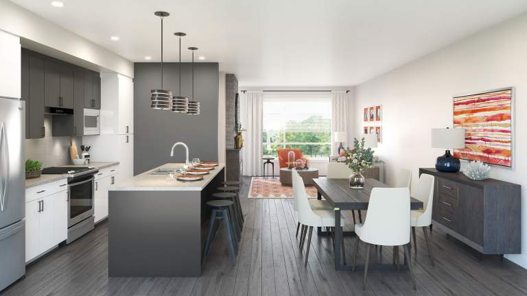 Base 10 Living Room/kitchen Rendering Chilliwack Presale