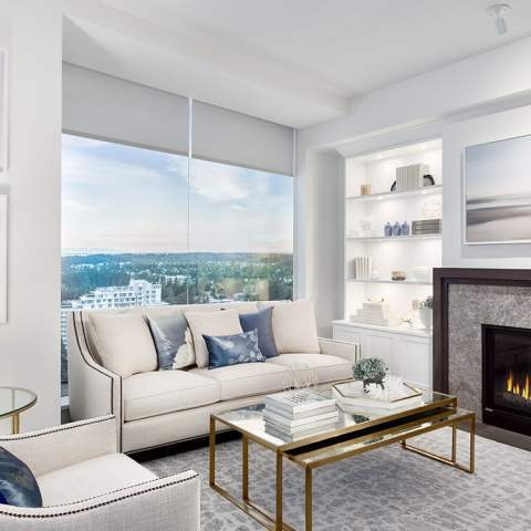 New Development Living Room Rendering