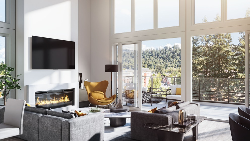 Garrison Central Living Room Rendering In Chilliwack