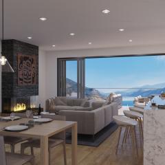 Ariva Kelowna Condos Living Room with a view
