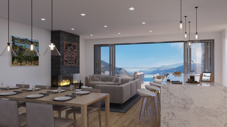 Ariva Kelowna Condos Living Room with a view