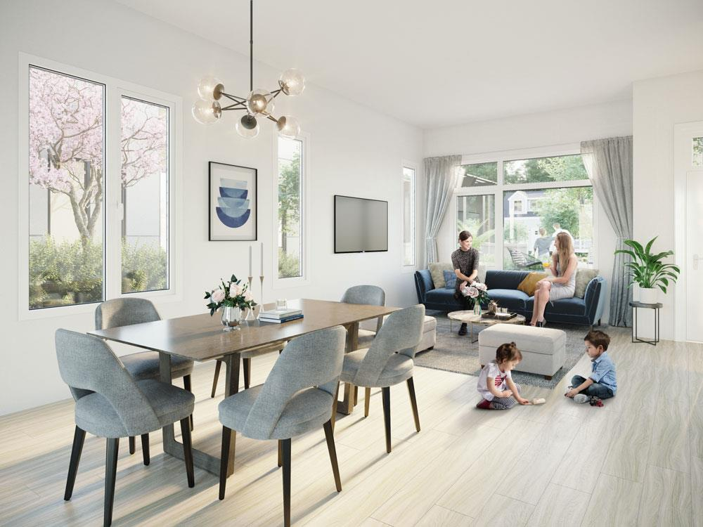 New Westminster New Condos Vancouver Presale Living Room Photo