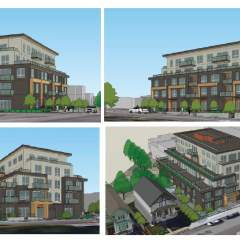 4 different views of a new development in New Westminster