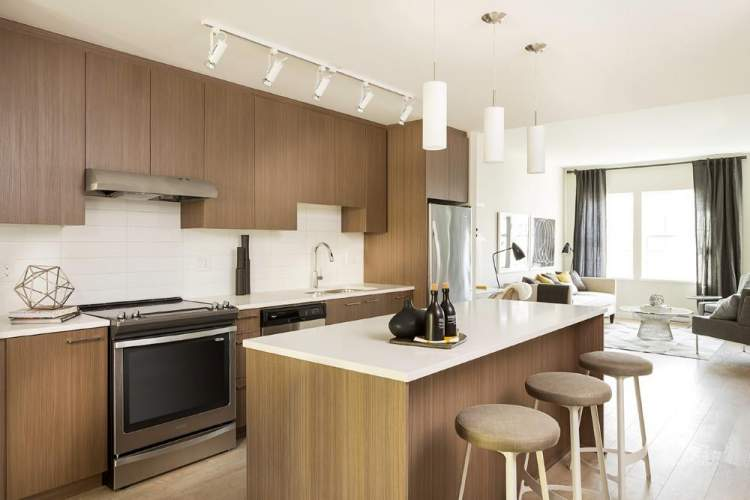 Allwood Place in Abbotsford Townhomes Photo of living area & kitchen