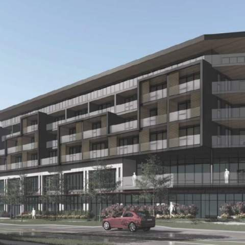 New Condo Development In North Vancouver Photo Of Front View Of Building
