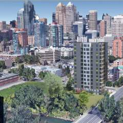 Calgary new condos photo of 15-storey building design