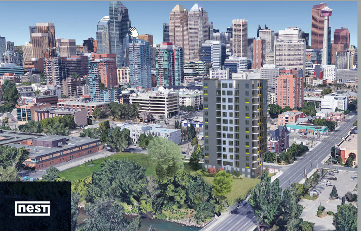 Calgary New Condos Photo Of 15-storey Building Design