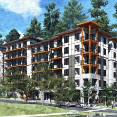 Building design of new development for Seymour Estates in North Vancouver
