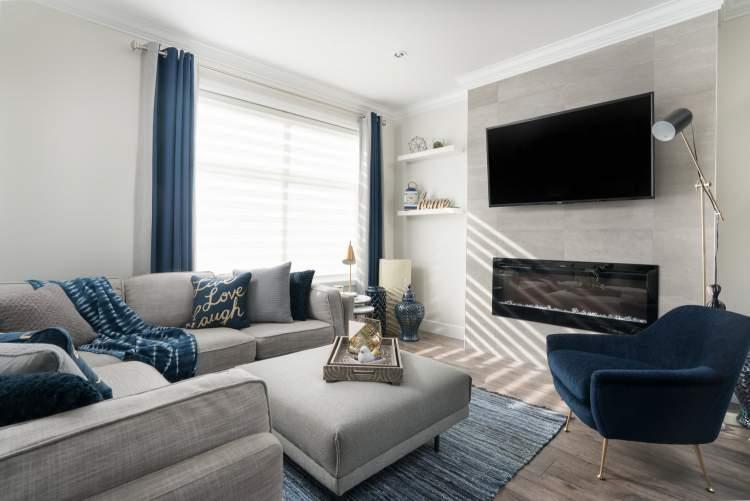 Imperial townhouses rendering of living room