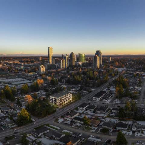 Briza Aerial View Of New Condos In Surrey