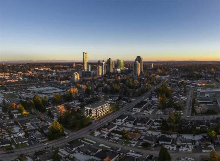Briza Aerial view of new condos in surrey