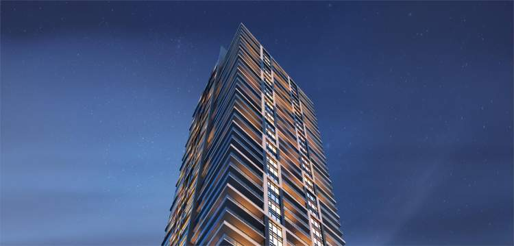 Highline Metrotown top of building rendering