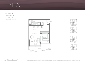 Linea Surrey Floor Plans 1 Bedroom