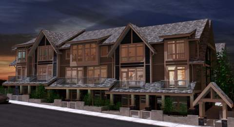 Front View Of New North Vancouver Condos - Queen's Landing