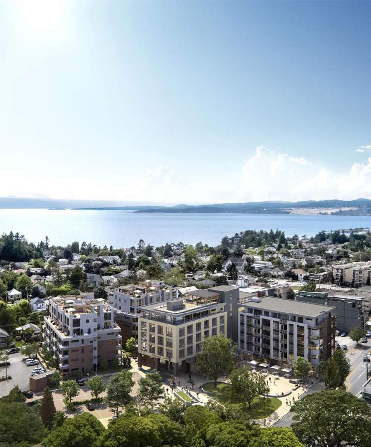 Rendering of Esquimalt Town Square 2 X 6-storey buildings