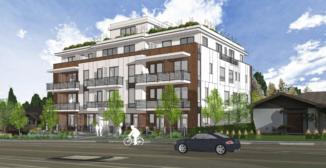Vancouver West Side New Condos - Photo Of Front View Of Building Rendering