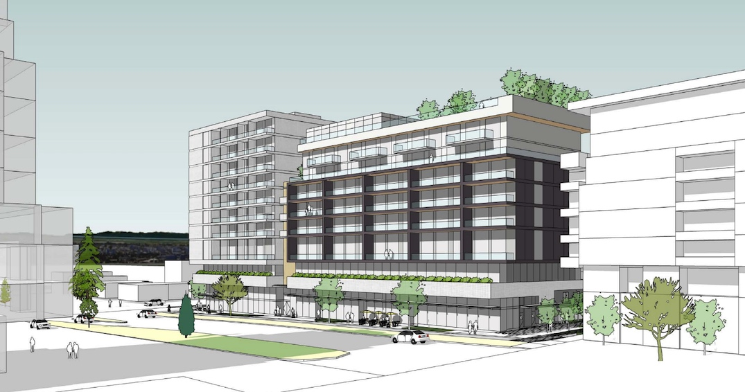 Vancouver West End New Condo Development Rendering Of Building
