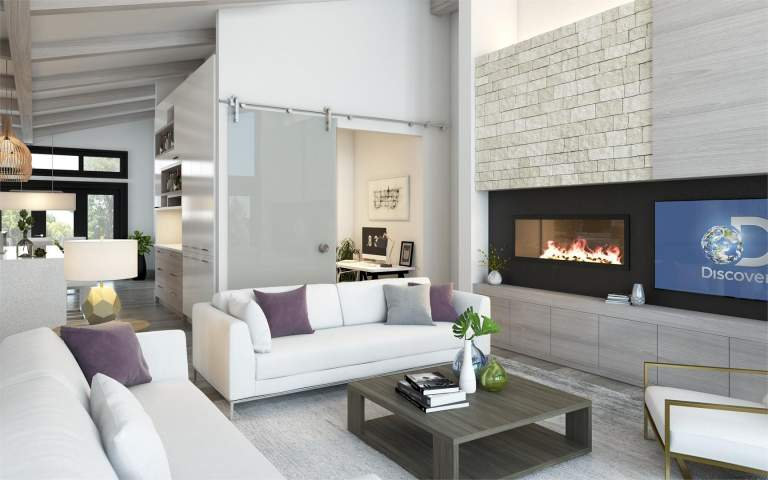 Living Room Rendering Of New Homes At Bear Mountain Victoria