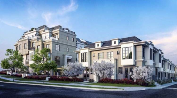 South Vancouver new townhomes rendering