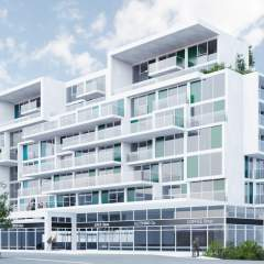 Rendering of East Vancouver new condos building