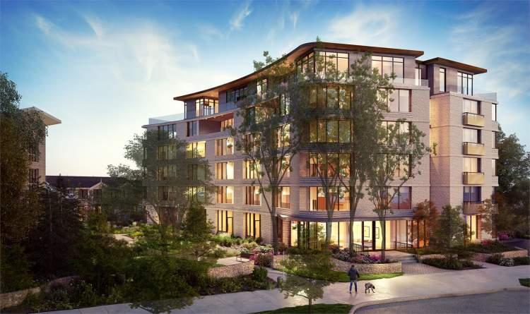 Rendering of new Bellewood Park building in Victoria BC