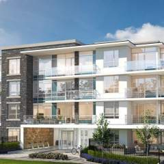 Rendering of The Marq condo building at UBC